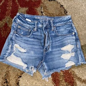 American eagle shorts with lace design in pocket